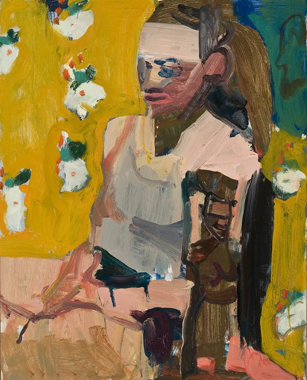 model with sculpture 20 x 16 oil on panel 2019